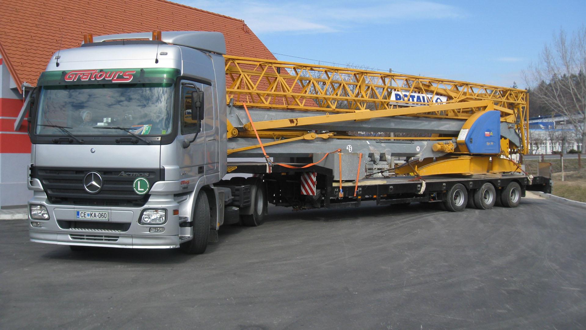 Prevoz gradbenih konstrukcij
